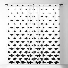 black white minimal seamless pattern Blackout Curtain
