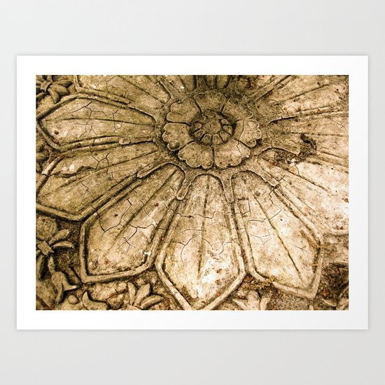 Stoned Garden Relic Art Print