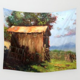 A Stable Home Wall Tapestry