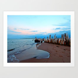 Relics by the Sea Art Print