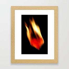 burning heart Framed Art Print