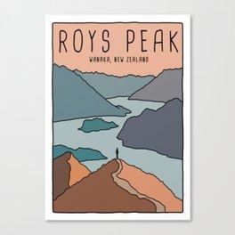 Roys Peak Canvas Print