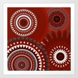 Ruby Mandalas Art Print