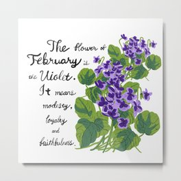 Sweet Violet - Birth Month Flower For February Metal Print