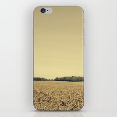 Lonely Field in Brown iPhone & iPod Skin