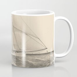 Vintage Illustration of the Sloop Yacht Mayflower Coffee Mug