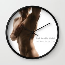 Longing For You, Male Nude Self-Portrait Wall Clock