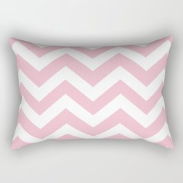 Orchid pink - pink color - Zigzag Chevron Pattern Rectangular Pillow