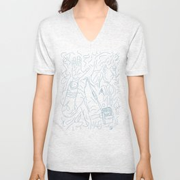 Teleporting out of Scene Unisex V-Neck