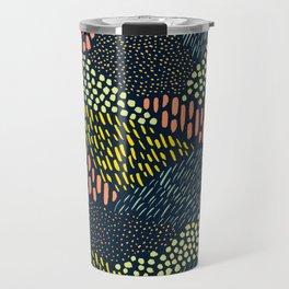 Dashes and dots // abstract pattern Travel Mug