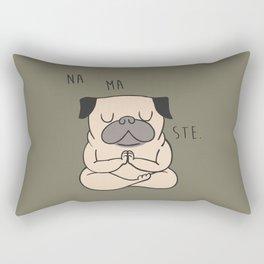 NAMASTE Pug Rectangular Pillow