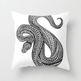 Ornate ball python Throw Pillow
