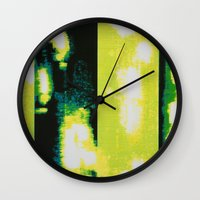 clear Wall Clocks featuring Clear by Elyce Abrams