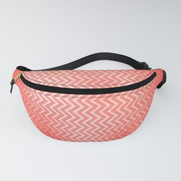 Chevron pattern in peach echo with texture Fanny Pack