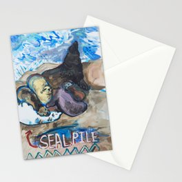 Seal Pile Stationery Cards