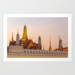 The Emerald temple Art Print