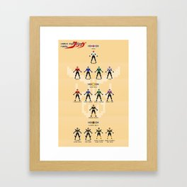 Chou Henshin Framed Art Print