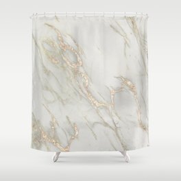 Marble Love Bronze Metallic Shower Curtain