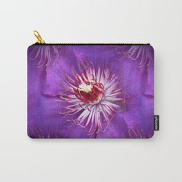 Purple Splash (Clematis) Carry-All Pouch