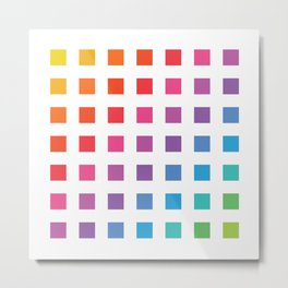 Bit Rainbow Metal Print