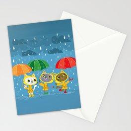 Rainy Day Kitty Cats Stationery Cards