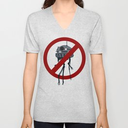 Drones are spooky? Unisex V-Neck