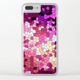 Purple rhapsody stained glas Clear iPhone Case
