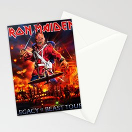 iron legacy maiden tour 2020 Stationery Cards
