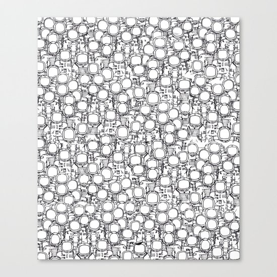 Astronauts (bunches!) Canvas Print