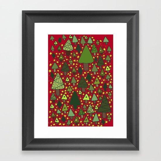 Christmas Tree Wonderland Framed Art Print
