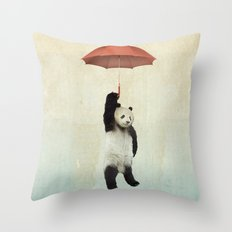 Pandachute Throw Pillow