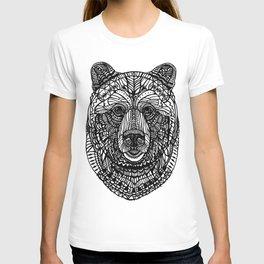 Black lace bear T-shirt