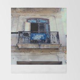 Seed Of Entrepreneurs Never Left Havana Cuba Throw Blanket