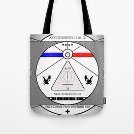 New World Order TV Test Pattern. Tote Bag