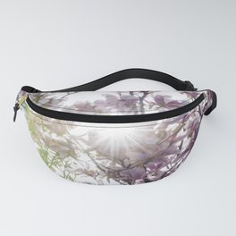 Pink Flowers Pattern and Sun Fanny Pack