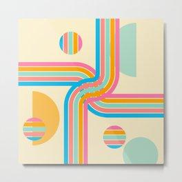Winding Path  Rainbow Arc Geometric Metal Print