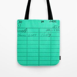 Library Card 797 Turquoise Tote Bag