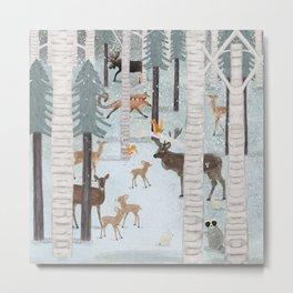 little deer wood Metal Print