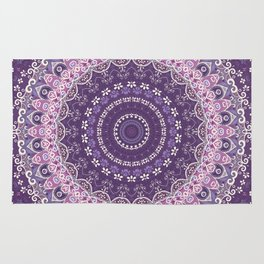 Purple Lace Mandala Rug
