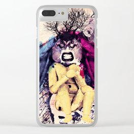 the nature love plastic idiots Clear iPhone Case