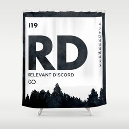 An Element of Discord (Icy Black) Shower Curtain