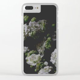 White Kalanchoe Clear iPhone Case