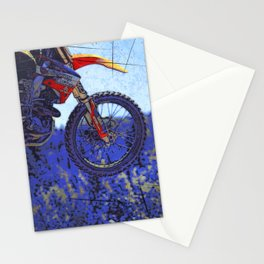 """""""Born to Fly!"""" Motocross Racer Stationery Cards"""