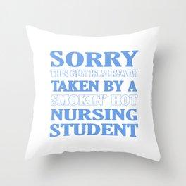 Taken By Nursing Student Throw Pillow