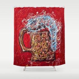 Abstract Beer - Inspired By Pollock  #society6 #wallart #buyart by Lena Owens @OLena Art Shower Curtain