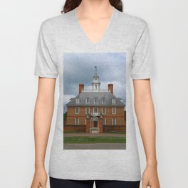 Governers Palace Colonial Williamsburg Unisex V-Neck
