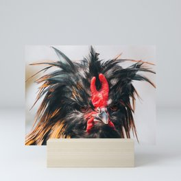 Rooster with 'tude Mini Art Print
