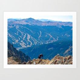 Dog Gone Climbing 2 // High above Copper Mountain Ski Resort in Colorado Landscape Photograph Art Print
