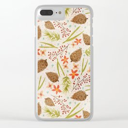 Quiet Walk In The Forest - A Soft And Lovely Pattern Clear iPhone Case