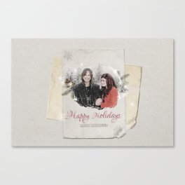 OUAT HAPPY HOLIDAYS // Rumbelle Canvas Print
